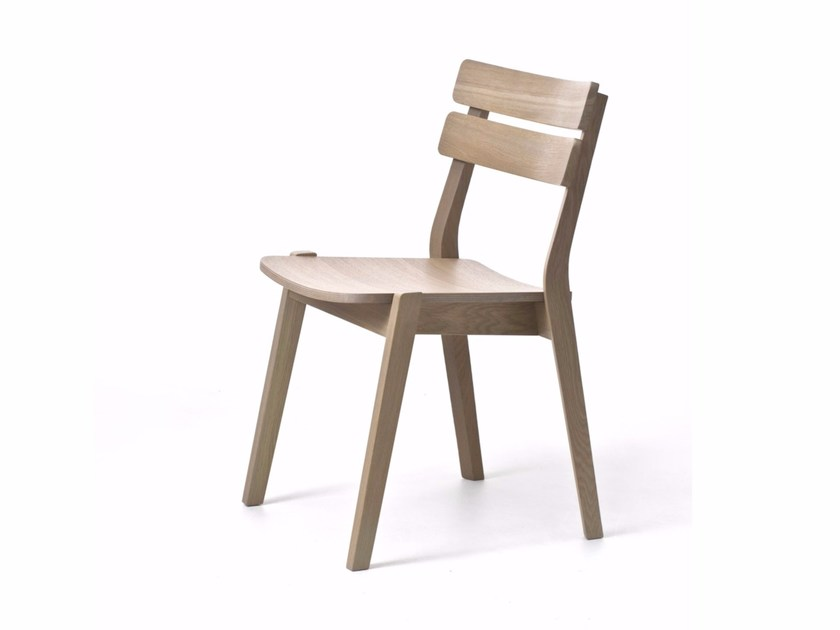 Contemporary style stackable oak garden chair FRAME OUT 11/L | Garden chair - Very Wood