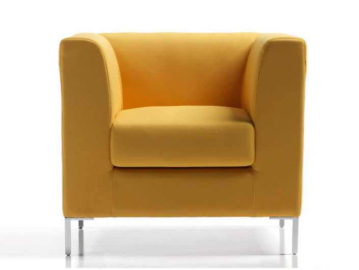 Fabric armchair with armrests FRAME | Armchair - D.M.
