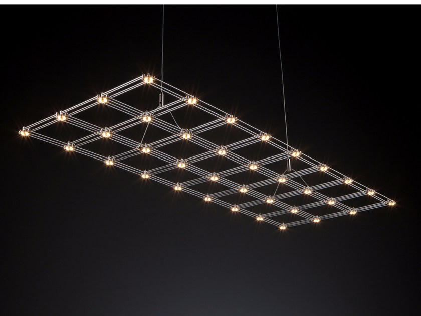 Nickel pendant lamp FRAME - Quasar