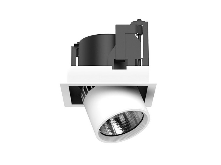 LED semi-inset adjustable aluminium spotlight FRAME S by LANZINI