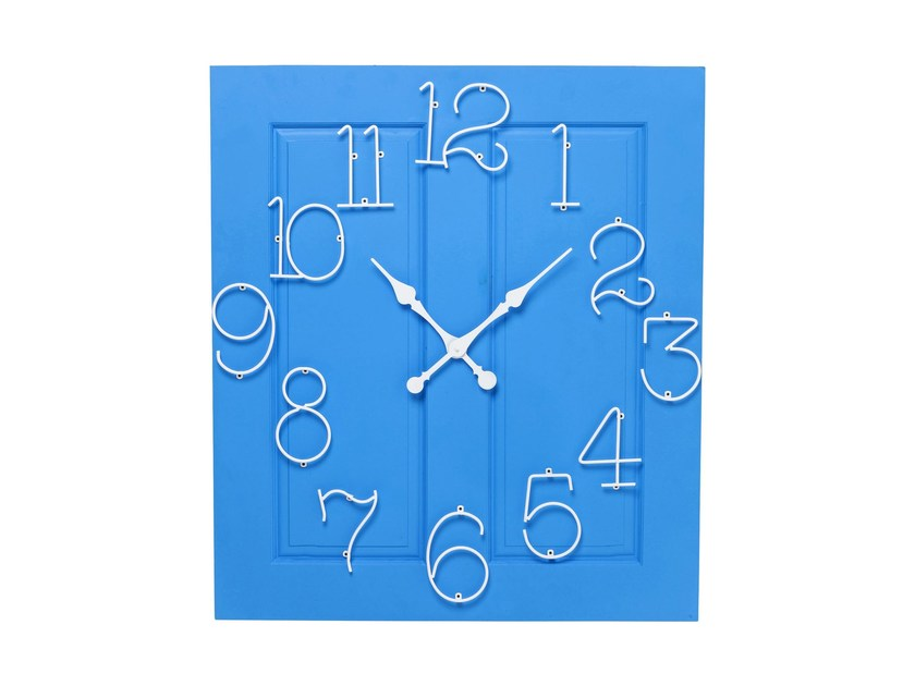 Wall-mounted MDF clock FRAME SANTORINI - KARE-DESIGN