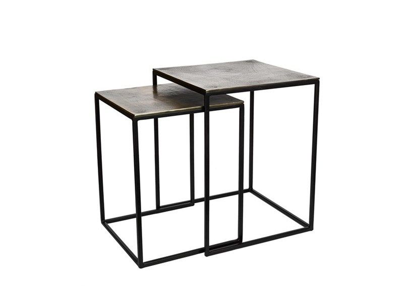 Square metal side table FRAME | Side table - Pols Potten