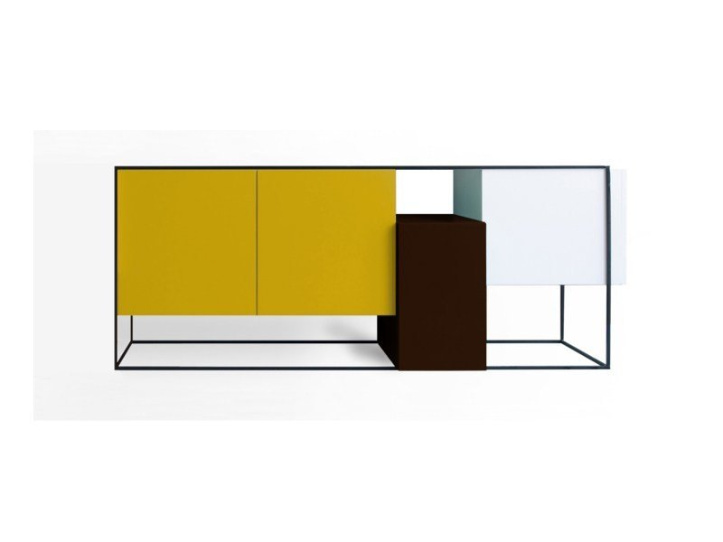 Lacquered sideboard with doors FRAMED | Lacquered sideboard by Moca