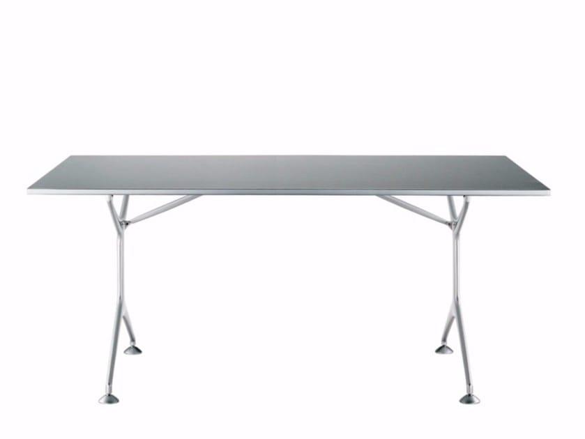 Folding rectangular aluminium table FRAMETABLE 160F - 495_160F - Alias