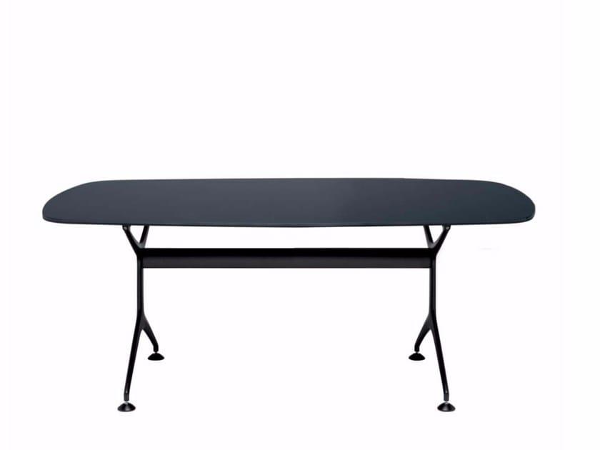 Oval wood veneer table FRAMETABLE 190 - 498_190 - Alias