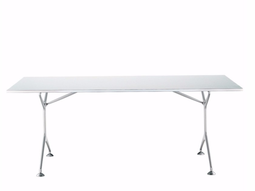 Folding rectangular aluminium table FRAMETABLE 190F - 495_190F - Alias