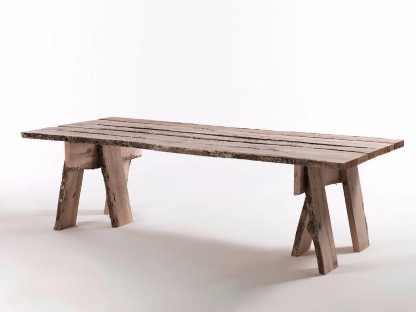 Rectangular wooden table FRAMMENTI DI WABI-SABI - Riva 1920