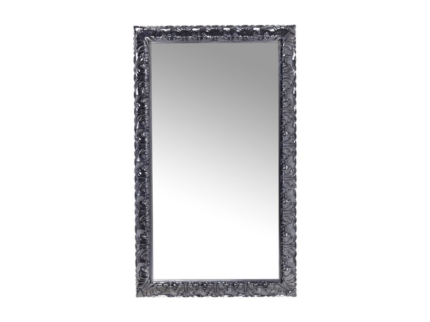 Rectangular wall-mounted framed mirror FRASCA CHROME - KARE-DESIGN