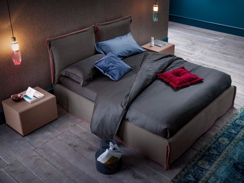 Upholstered fabric double bed FREE by Dall'Agnese
