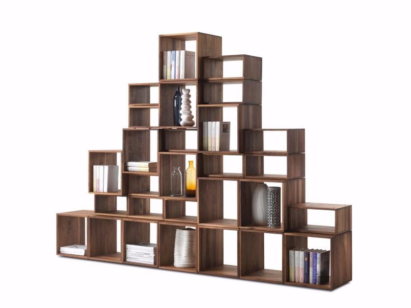 Open solid wood bookcase FREEDOM | Bookcase by Riva 1920