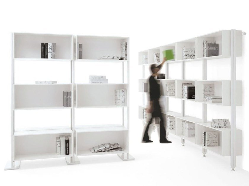 Glass and steel shelving unit FREELY by IBEBI