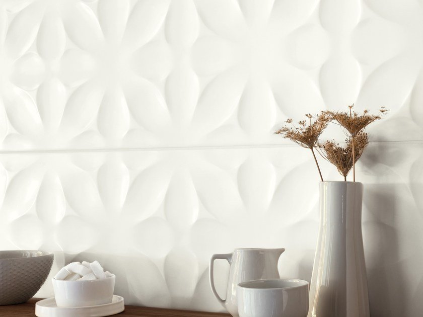 White-paste 3D Wall Cladding FREESTYLE - Ragno
