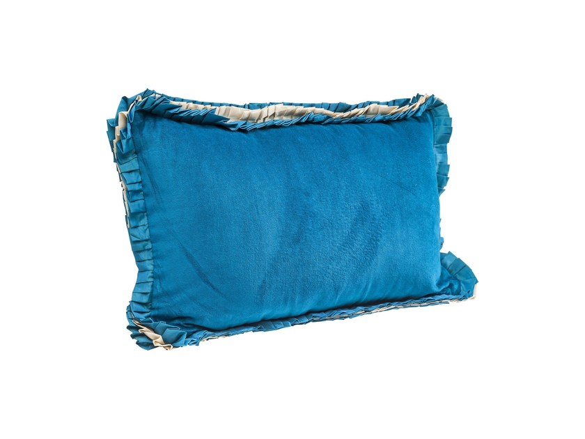 Rectangular cotton cushion FRILL UNI - KARE-DESIGN