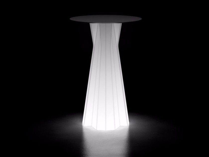 Polyethylene table with light FROZEN TABLE LIGHT by Plust