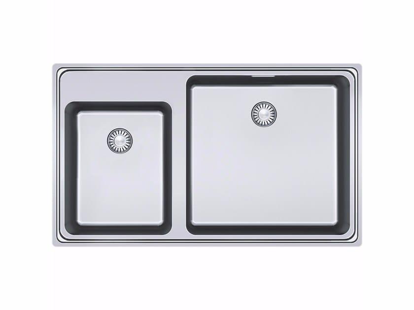 Lavello a una vasca e mezzo da incasso in acciaio inox FSX 220-86 TPL by FRANKE