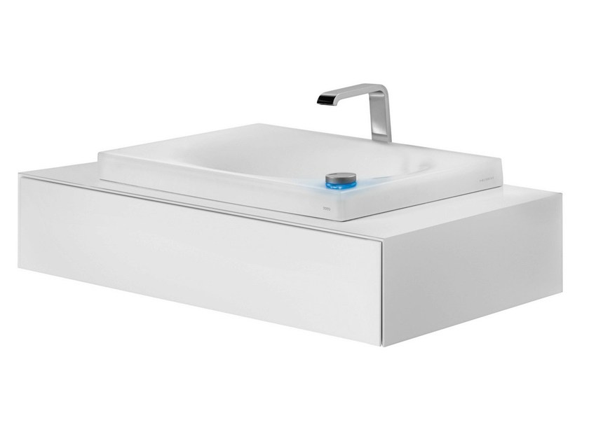 Lacquered single vanity unit with drawers FU10006A-MW | Single vanity unit - TOTO