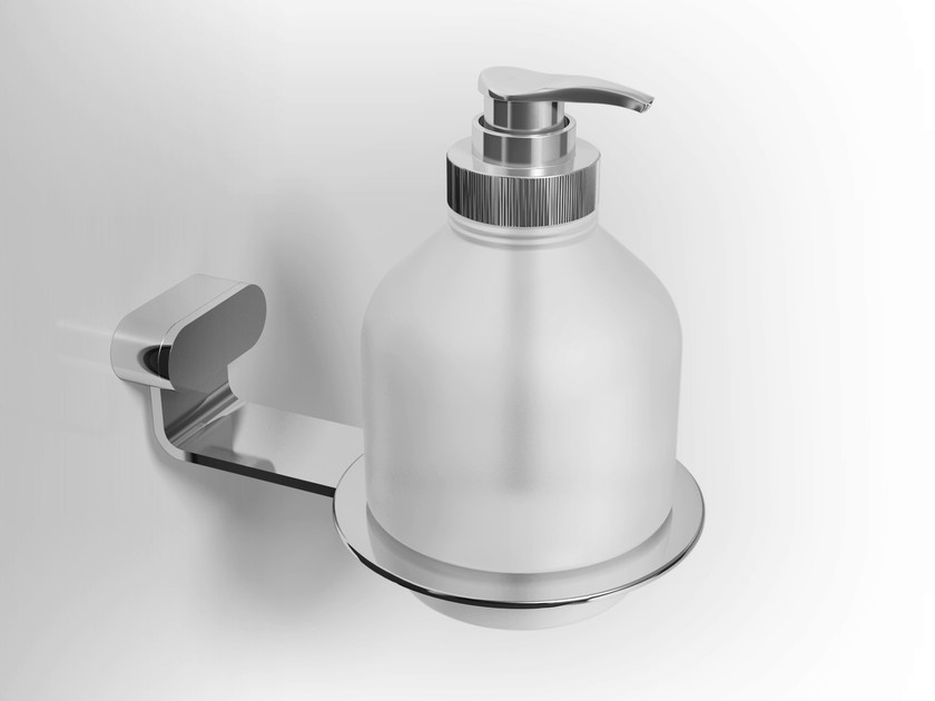 Wall-mounted glass liquid soap dispenser FUCSIA | Liquid soap dispenser - Alna