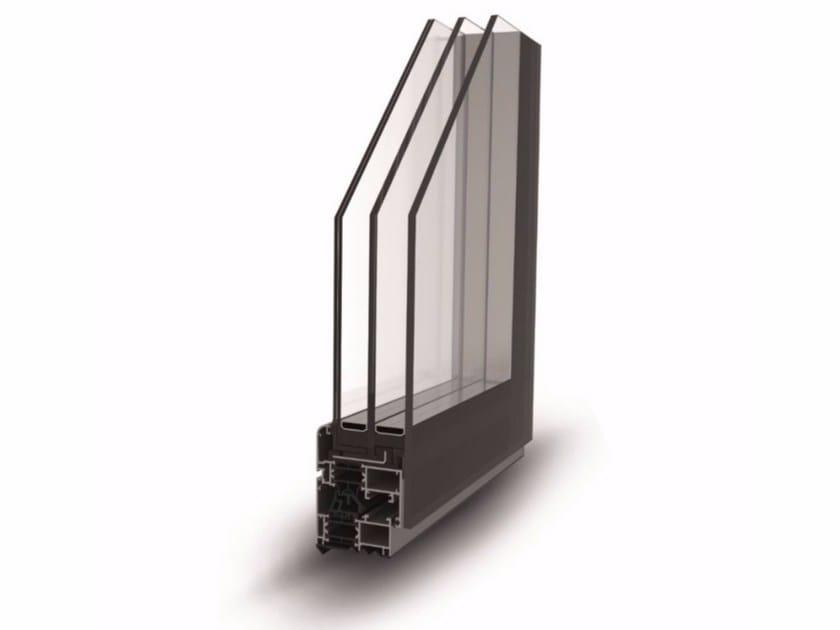 Finestra a battente a taglio termico con triplo vetro FULL GLAZING - ALsistem