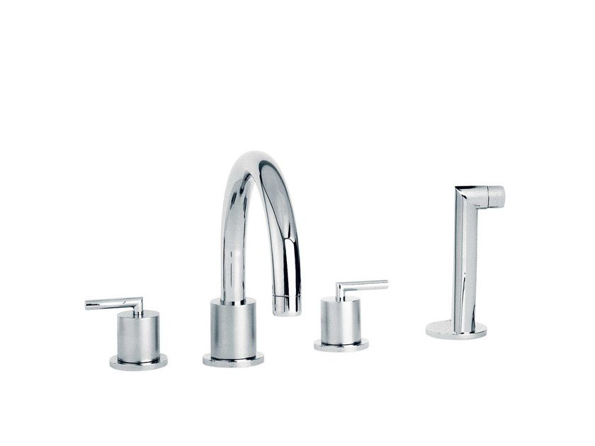 4 hole bathtub set with hand shower FUN | 4 hole bathtub set - rvb