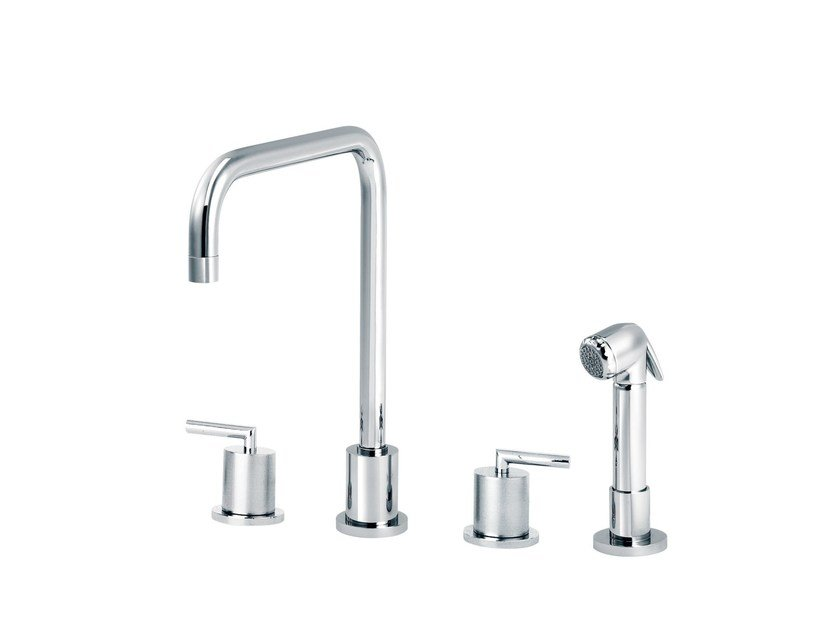 Countertop kitchen mixer tap with pull out spray FUN | Countertop kitchen mixer tap - rvb