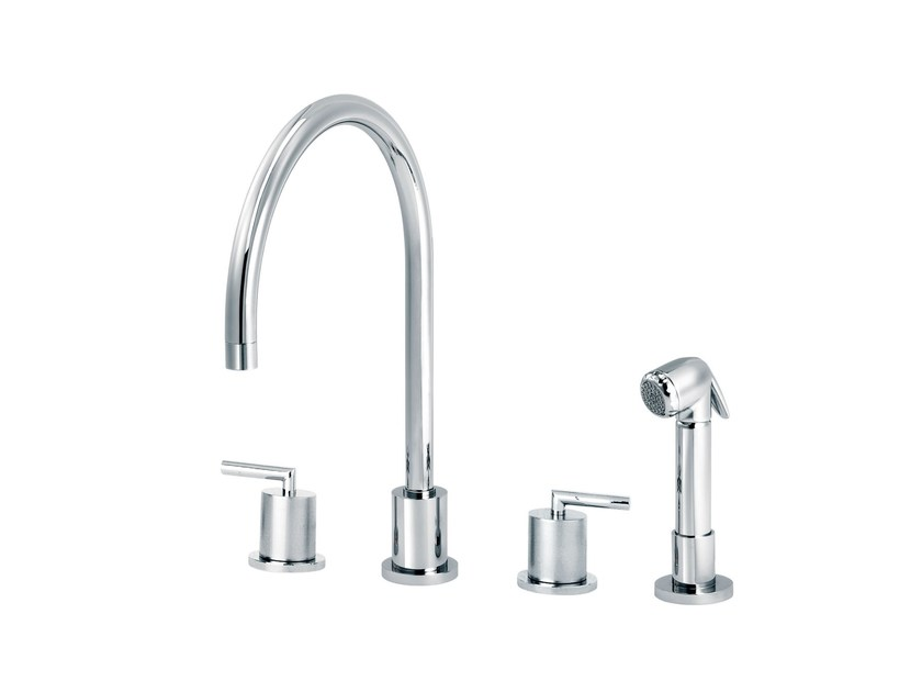 Countertop kitchen mixer tap with pull out spray FUN | Kitchen mixer tap with pull out spray by rvb