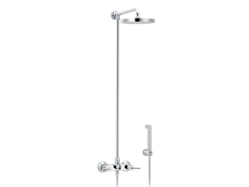 Wall-mounted shower panel with hand shower FUN | Shower panel - rvb