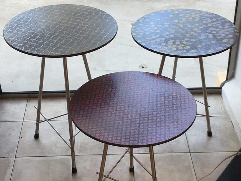 Lava stone coffee table FUNGHETTI by Made a Mano