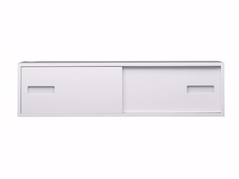 MDF wall cabinet with sliding doors FUNK F1:2BW by ASPLUND