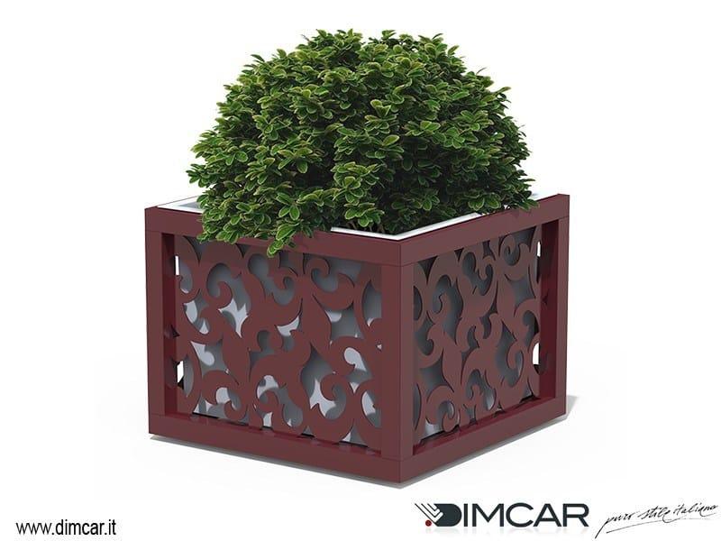 Low metal Flower pot Fioriera Giglio - DIMCAR