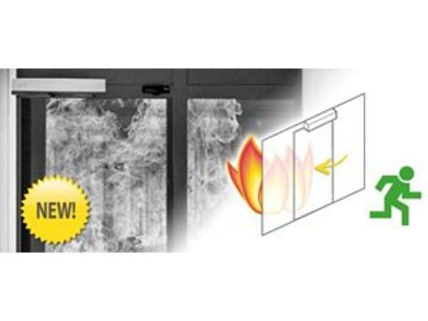 Porta scorrevole resistente al fuoco in metallo Protezione antincendio - Gilgen Door Systems