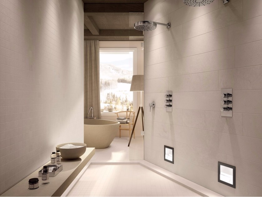Full-body porcelain stoneware wall/floor tiles with stone effect MATRIX - Ceramiche Marca Corona