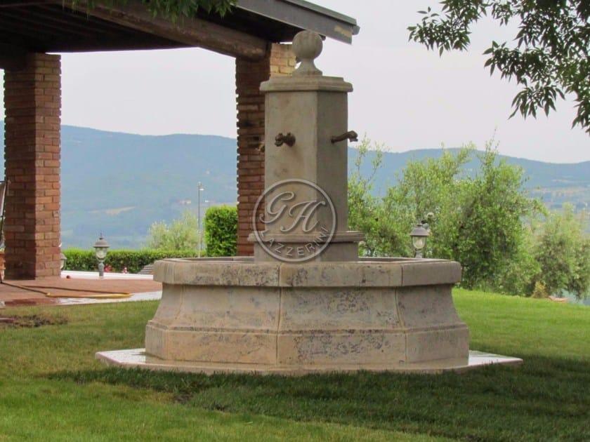 Natural stone Fountain Fountain 1 - Garden House Lazzerini