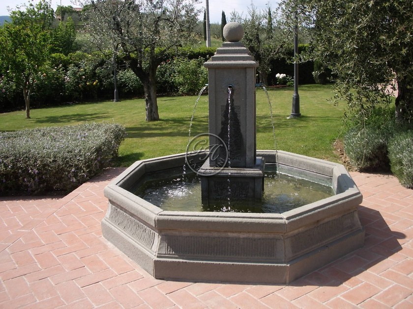 Natural stone Fountain Fountain 3 - Garden House Lazzerini