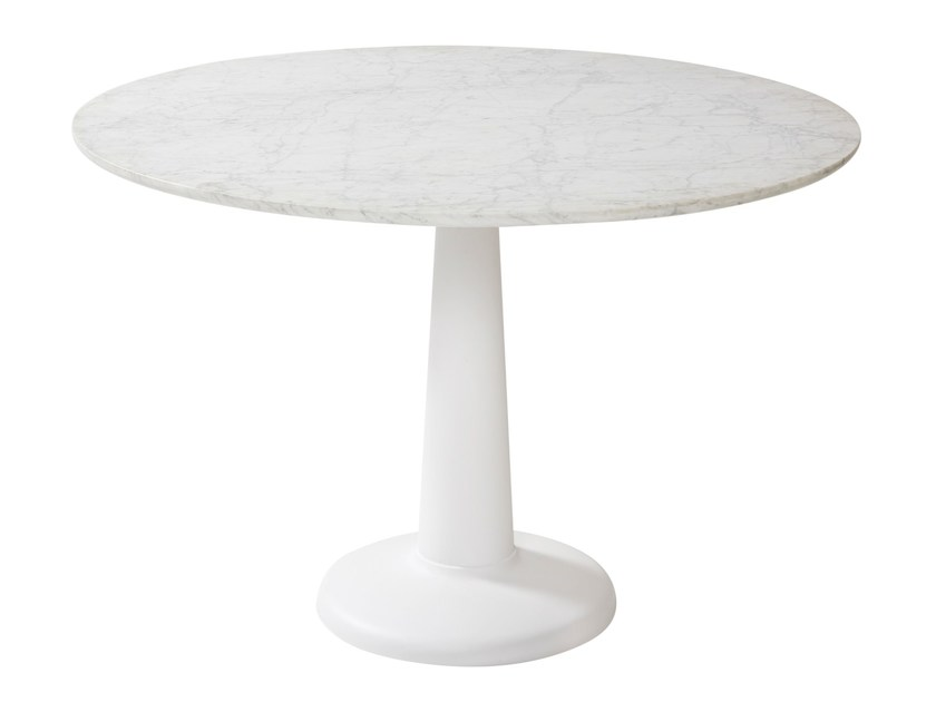 Round marble table G | Marble table - Tolix Steel Design