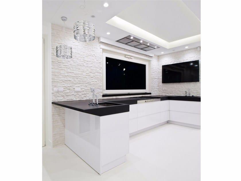 Cucina in quarzo con penisola g180 cucina con penisola - Quarzo per cucine ...