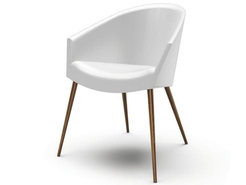 Fabric easy chair with armrests GABA | Easy chair - CIZETA