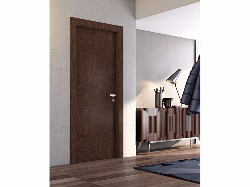 Hinged wooden door GALAXIA by Pail Serramenti