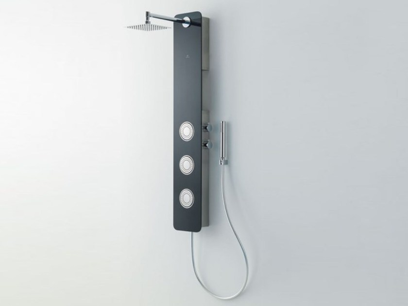 Thermostatic shower panel with hand shower GALLERY by Systempool