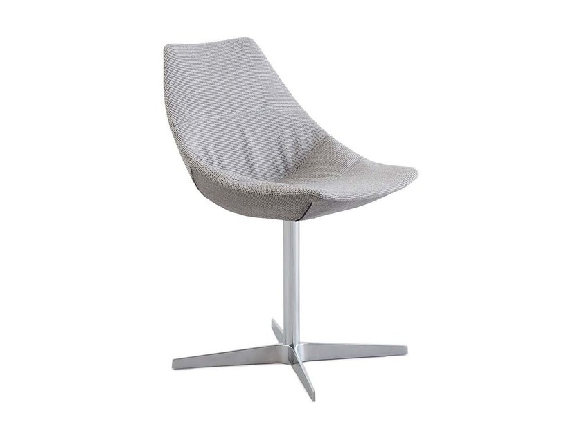 Contemporary style swivel upholstered lacquered metal chair GAMMA | Swivel chair - PIANCA