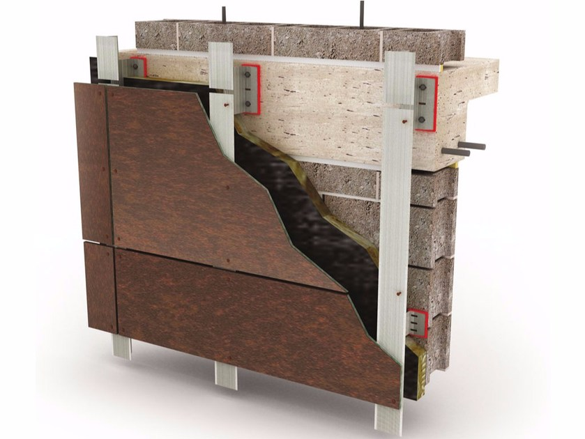 Ventilated facade GAMMASTONE AIR VISIBLE FIXING - GammaStone
