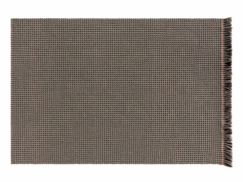 Patterned rectangular polypropylene outdoor rugs GARDEN LAYERS GREEN | Rectangular rug by GAN