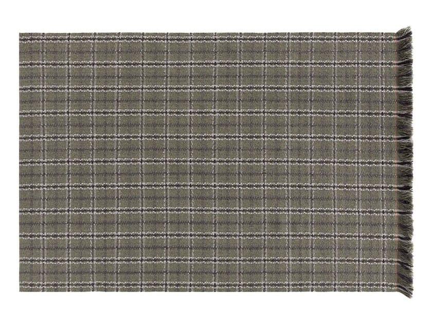 Rectangular polypropylene outdoor rugs with geometric shapes GARDEN LAYERS GREEN   Rectangular rug by GAN