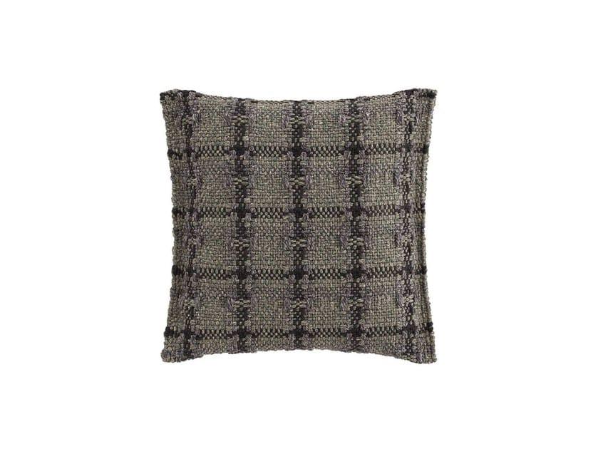 Check square outdoor polypropylene cushion GARDEN LAYERS GREEN   Square cushion by GAN