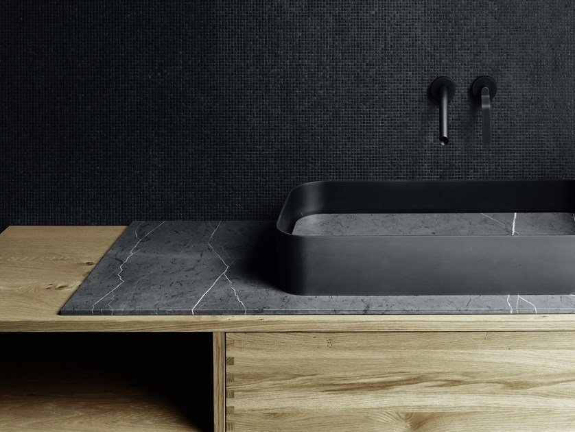 Countertop rectangular plate washbasin GARDEN | Washbasin by Boffi