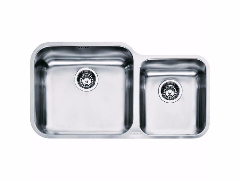 Lavello a una vasca e mezzo sottotop in acciaio inox GAX 120 - FRANKE