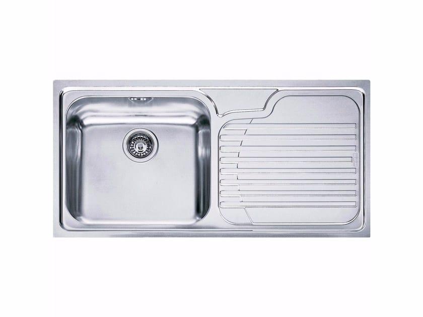 Lavello a una vasca da incasso in acciaio inox con sgocciolatoio GAX 611 - FRANKE