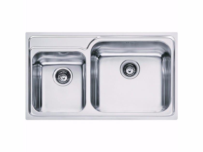 Lavello a una vasca e mezzo da incasso in acciaio inox GAX 620 - FRANKE