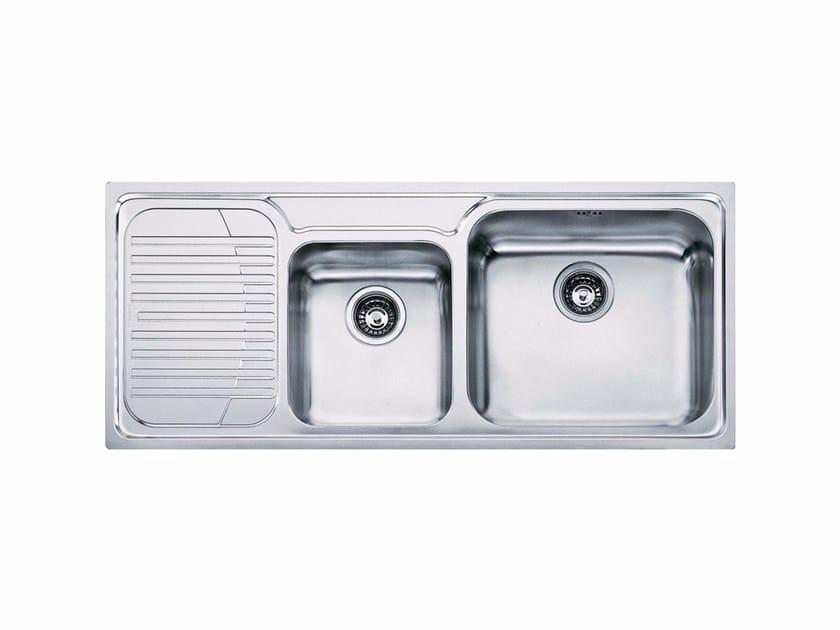 Lavello a una vasca e mezzo da incasso in acciaio inox con sgocciolatoio GAX 621 - FRANKE