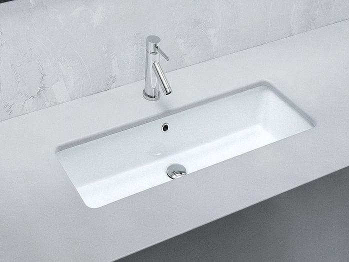 Undermount rectangular ceramic washbasin GEA | Washbasin - Hidra Ceramica