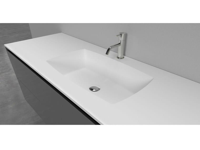 Cristalplant® washbasin countertop GEMMA by Antonio Lupi Design